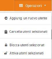 Amministrazione - Esempio di operazioni sulla base dati (Utenti)